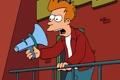 Картинка стена, Футурама, Futurama, фрай, громкоговоритель, Philip J. Fry