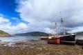 Картинка облака, берег, лодки