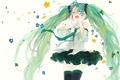 Картинка девушка, цветы, арт, галстук, vocaloid, hatsune miku, вокалоид