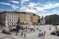 Картинка площадь, Польша, памятник, Краков, Мицкевич, Rynek Główny