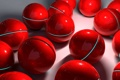 Картинка сфера, шары, красный