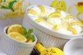Картинка крем, десерт, лимоны, сладкое, мусс, лимонный