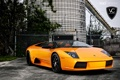 Картинка оранжевый, Lamborghini, ламборджини, murcielago, orange, 360 three sixty forged, LP640
