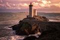 Картинка пейзаж, море, маяк