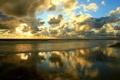 Картинка море, волны, небо, солнце, облака, лучи, свет
