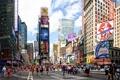Картинка облака, небо, таймс сквер, площадь, манхеттен, люди, нью-йорк
