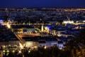 Картинка ночь, город, Франция, здания, дома, панорама, архитектура