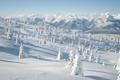 Картинка зима, снег, деревья, горы, природа, холмы, пейзажи