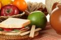 Картинка яблоки, хлеб, фрукты, бутерброд, овощи