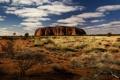 Картинка пейзаж, скала, Австралия, Гора Улуру, Айерс Рок