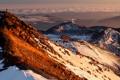 Картинка sunset, cloud, mountain, snow, mount ngauruhoe