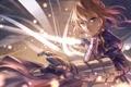 Картинка saber, меч, девушка, аниме, zicai tang, арт, fate/zero