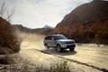 Картинка дорога, небо, горы, пыль, Спорт, джип, Land Rover