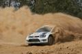 Картинка Пыль, Volkswagen, Поворот, Занос, WRC, Rally, Ралли
