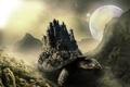 Картинка горы, замок, From the Ocean Depths