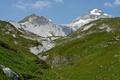 Картинка трава, небо, Монте Бальдо, вершины, Италия, снег, горная цепь
