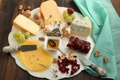 Картинка сыр, мед, виноград, орехи, блюдо, изюм, ассорти