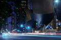 Картинка traffic, night, usa, ночь, огни, walt disney concert hall, los angeles