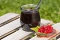 Картинка ягоды, красная, смородина, джем, варенье, баночка