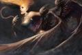 Картинка девушка, фантастика, крылья, арт, демоны, by_cloudminedesign, dark harpy