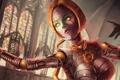 Картинка девушка, механизм, арт, League of Legends, Orianna