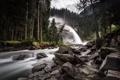 Картинка природа, лес, водопад