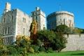 Картинка город, фото, замок, Великобритания, кусты, Windsor