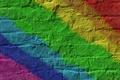 Картинка цвета, полосы, стена, радуга, кирпич