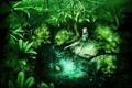 Картинка зелень, лес, пруд, фея
