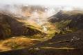 Картинка облака, горы, природа, река, долина