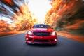 Картинка осень, AMG, дорога, C63, скорость, Mercedes-Benz