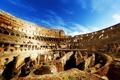 Картинка небо, люди, Рим, Колизей, Италия, руины, архитектура