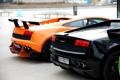 Картинка оранжевый, черный, Lamborghini, gallardo, black, orange, ламборгини