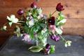 Картинка тюльпаны, фото, морозник, букет, ваза, цветы