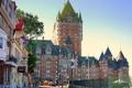 Картинка улица, окна, здания, дома, Канада, Квебек, Шато Фронтенак