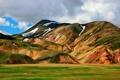 Картинка небо, облака, горы, Исландия