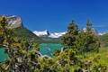 Картинка горы, сосны, Монтана, Glacier National Park, Saint Mary Lake, Montana, Озеро Святой Марии