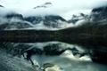 Картинка волны, горы, озеро, Норвегия, fiord