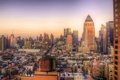 Картинка закат, нью-йорк, usa, sunset, new york, manhattan, nyc