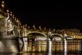 Картинка Budapest, Magyarország, Дунай, Будапешт, фонари, свет, река