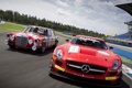 Картинка Mercedes-Benz, AMG, SLS, and, старый и новый, Race Car, 6.3