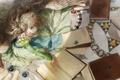 Картинка книги, крылья, ангел, арт, девочка, локоны, небесная бухгалтерия