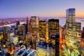 Картинка пейзаж, ночь, огни, небоскреб, дома, Нью-Йорк, США
