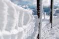 Картинка зима, снег, сетка, забор