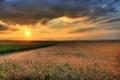 Картинка небо, солнце, пейзаж, закат, природа, фото, рассвет