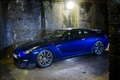 Картинка синий, GTR, фонарь, Nissan, ниссан, blue, Skyline