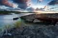 Картинка закат, пейзаж, река