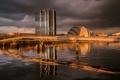 Картинка мост, река, Шотландия, Глазго, здание SECC