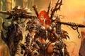 Картинка женщина, броня, Diablo 3, варвар, трофей, варварша