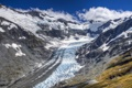 Картинка небо, облака, снег, горы, долина, ледник